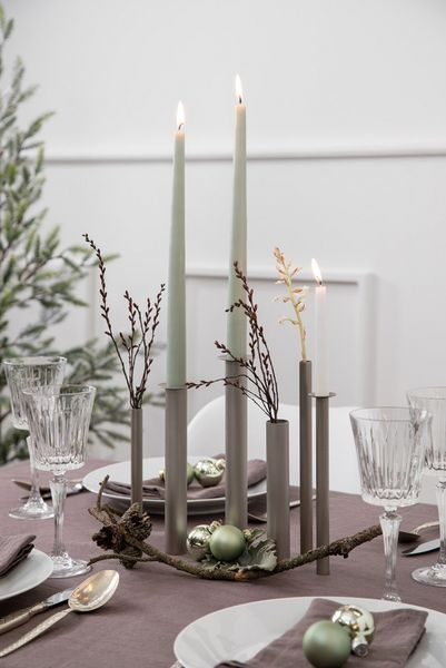 Switch vase/candle S/6 - Champagne